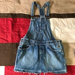 Overalls mini skirt